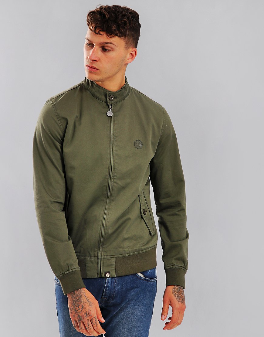 Pretty Green Newton Paisley Lined Harrington Khaki