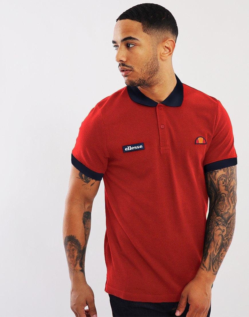 Ellesse Lessepsia Polo Shirt Red/Dress Blues