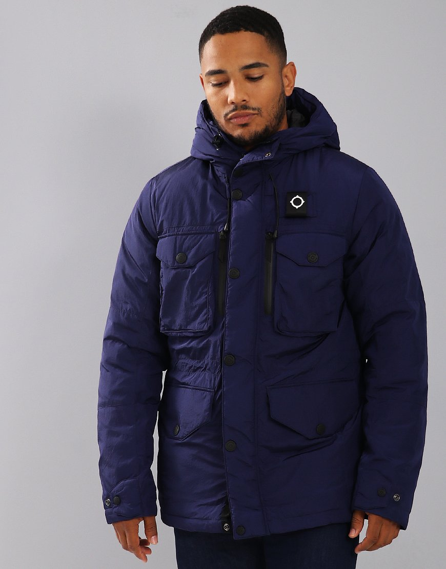 MA.Strum Greyback Down Filled Parka Indigo
