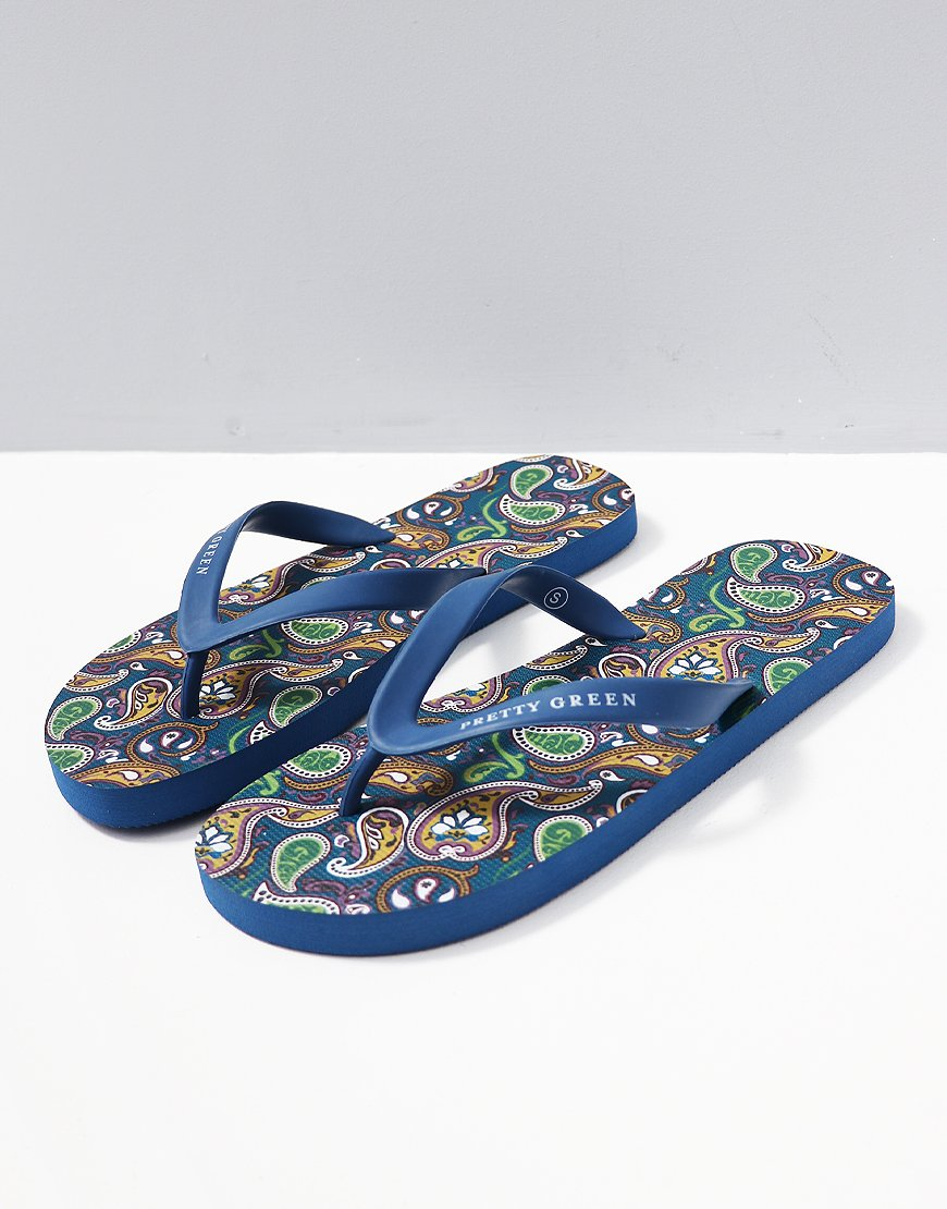 6f537705f Pretty Green Vintage Paisley Flip Flops - Terraces Menswear