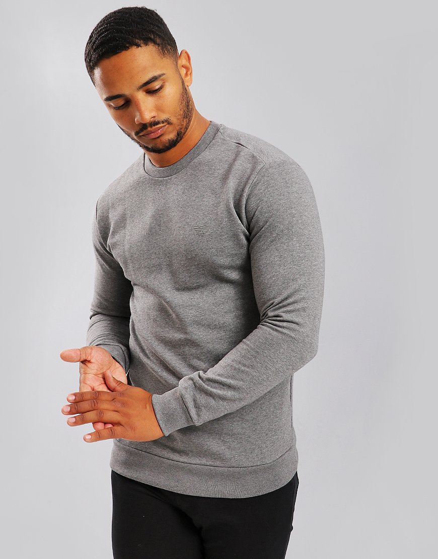 Emporio Armani Crew Neck Sweat Medium Grey Melange