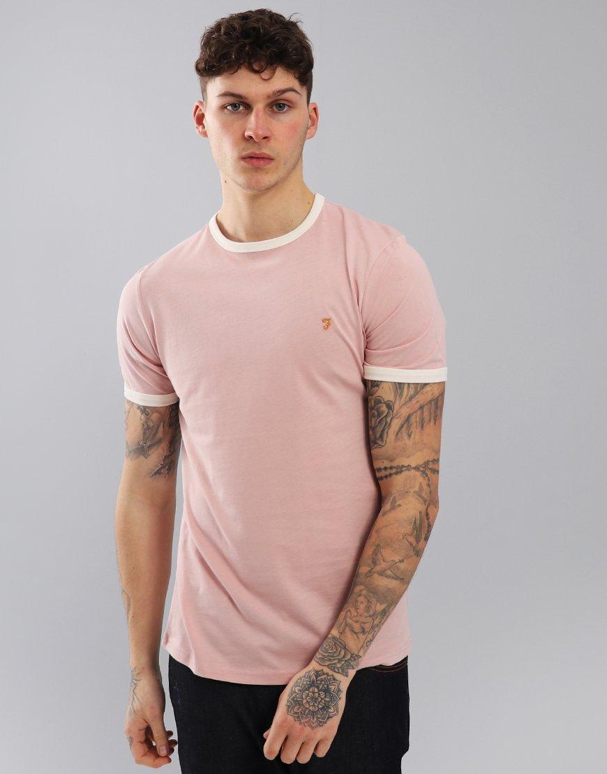Farah Groves Ringer T-Shirt Rose