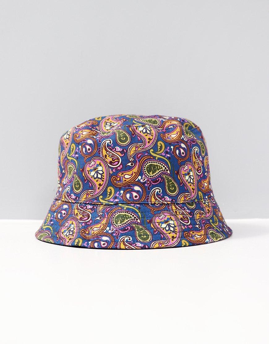 Pretty Green Reversible Bucket Hat Vintage Paisley/Navy