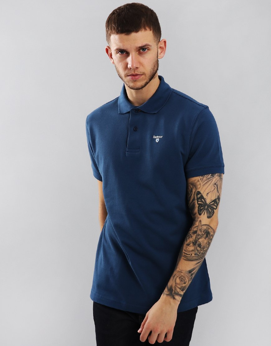 Barbour Sports Polo Shirt Deep Blue