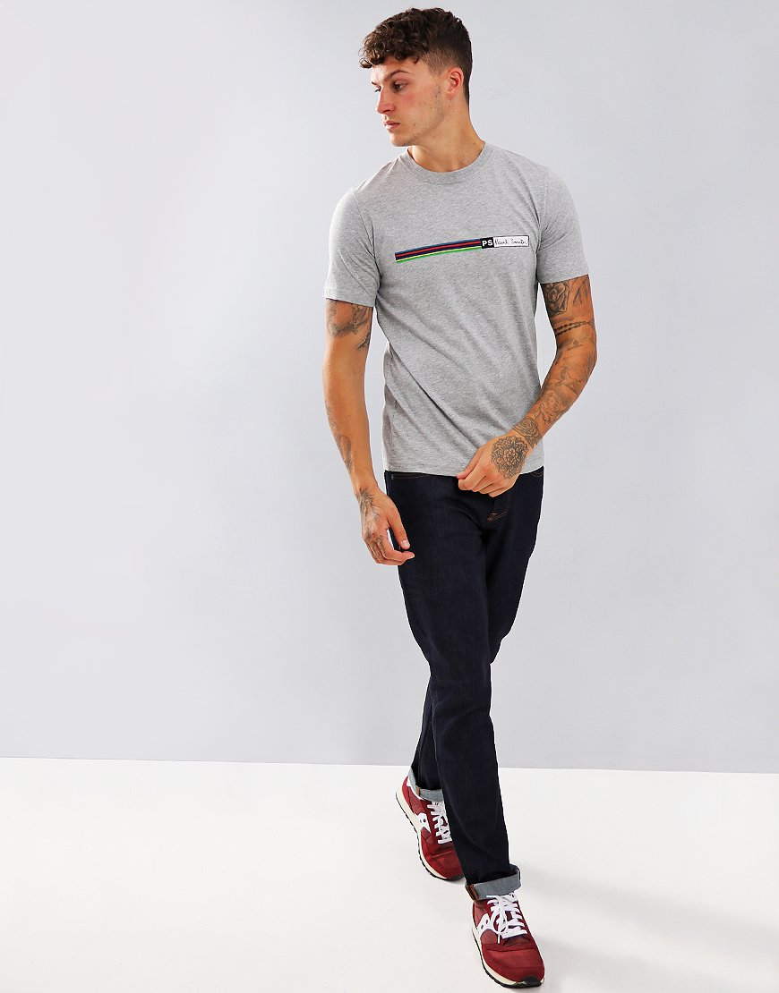 Paul Smith Cycle Stripe Logo T-Shirt Melange