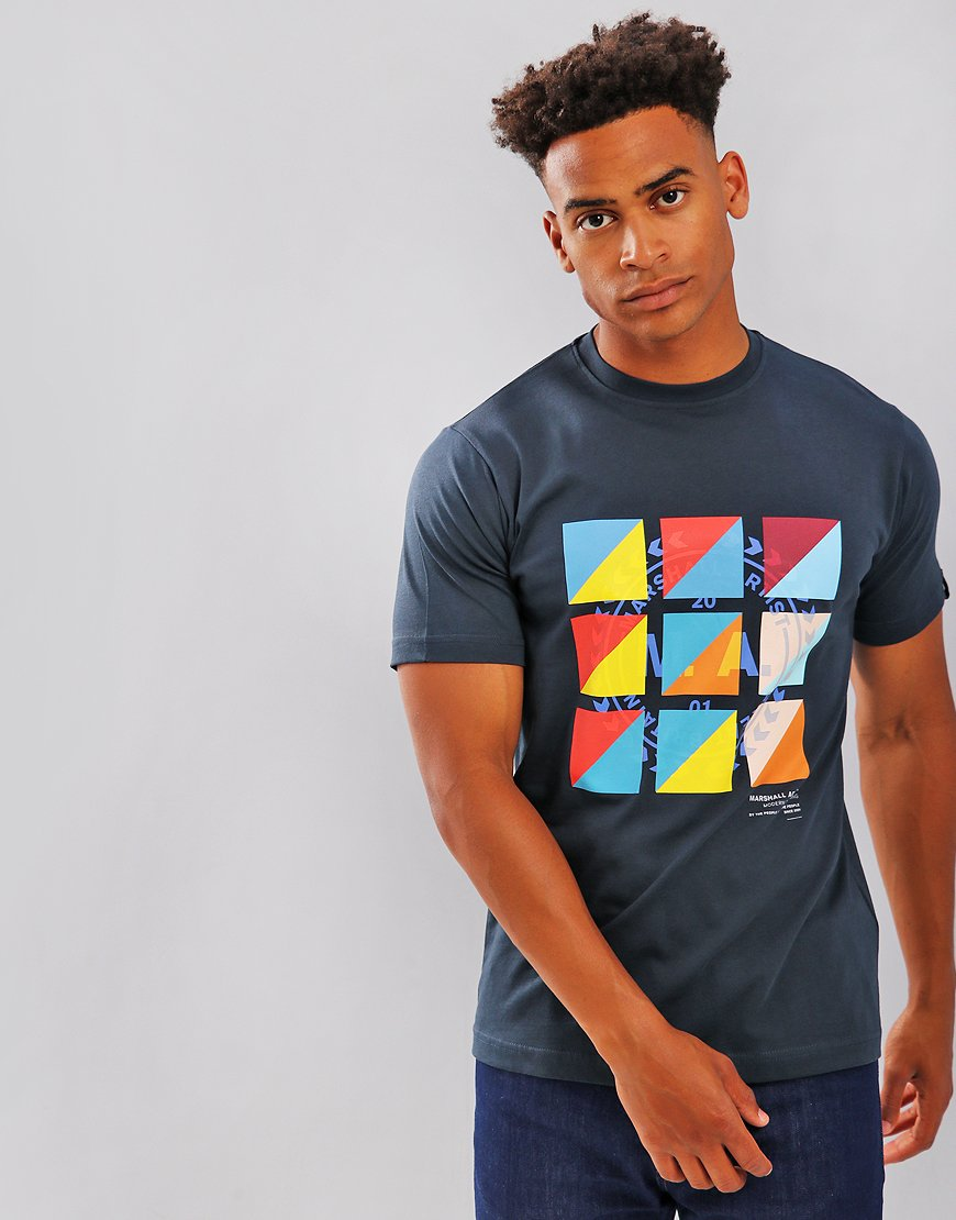 Marshall Artist Signal T-Shirt Navy