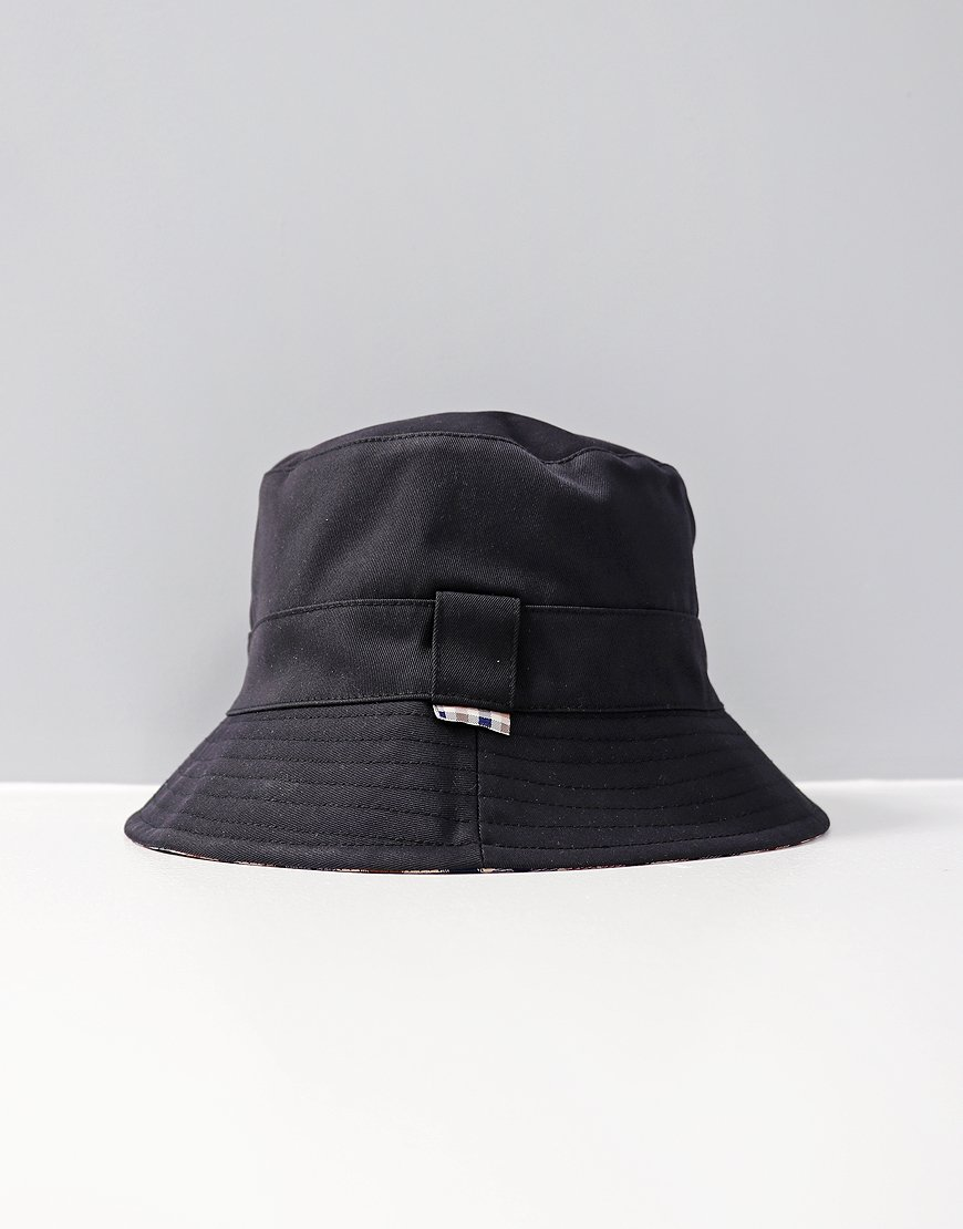 Aquascutum Reversible Bucket Hat  Navy