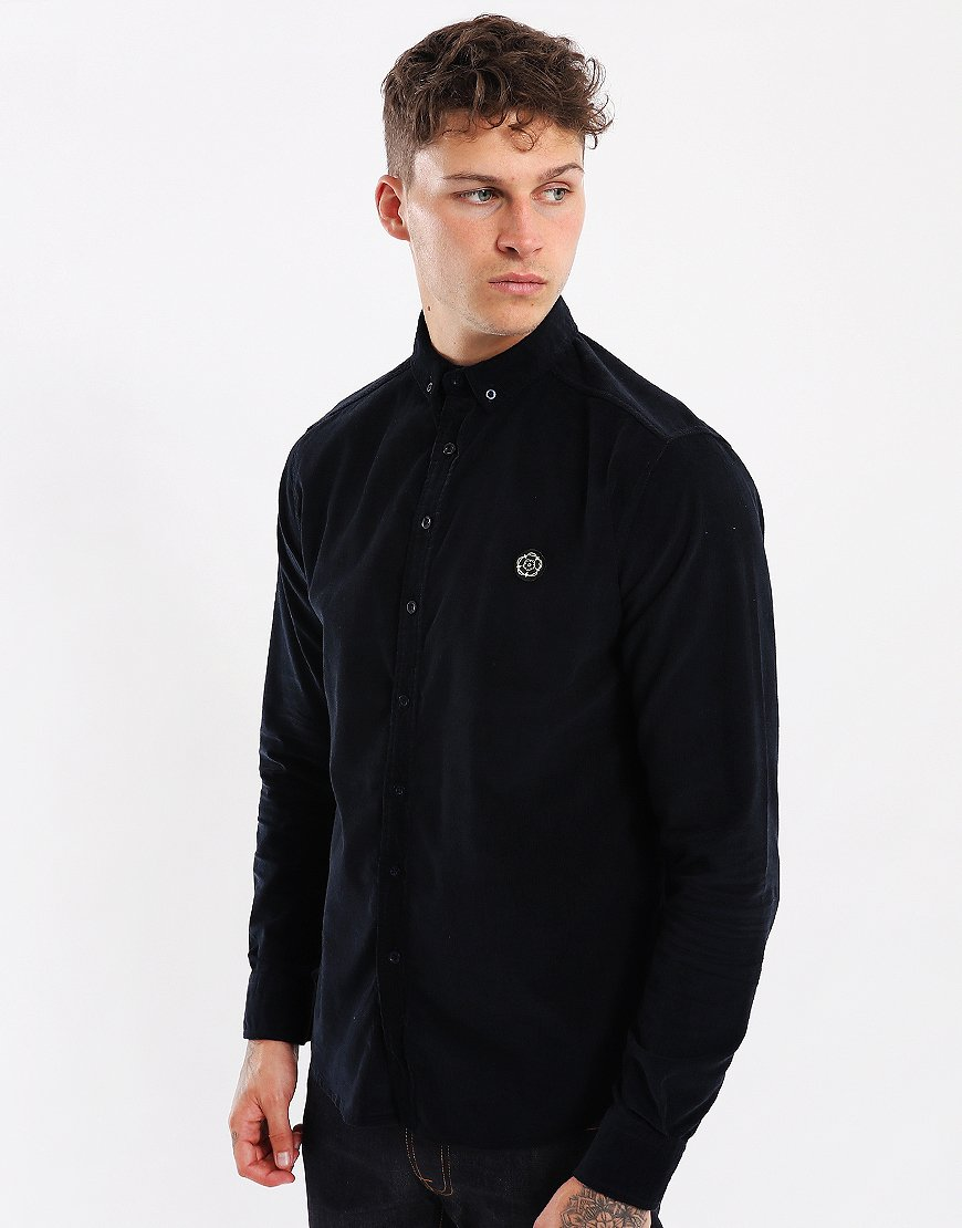 Nicholas Deakins Azen Long Sleeve Shirt Dark Navy