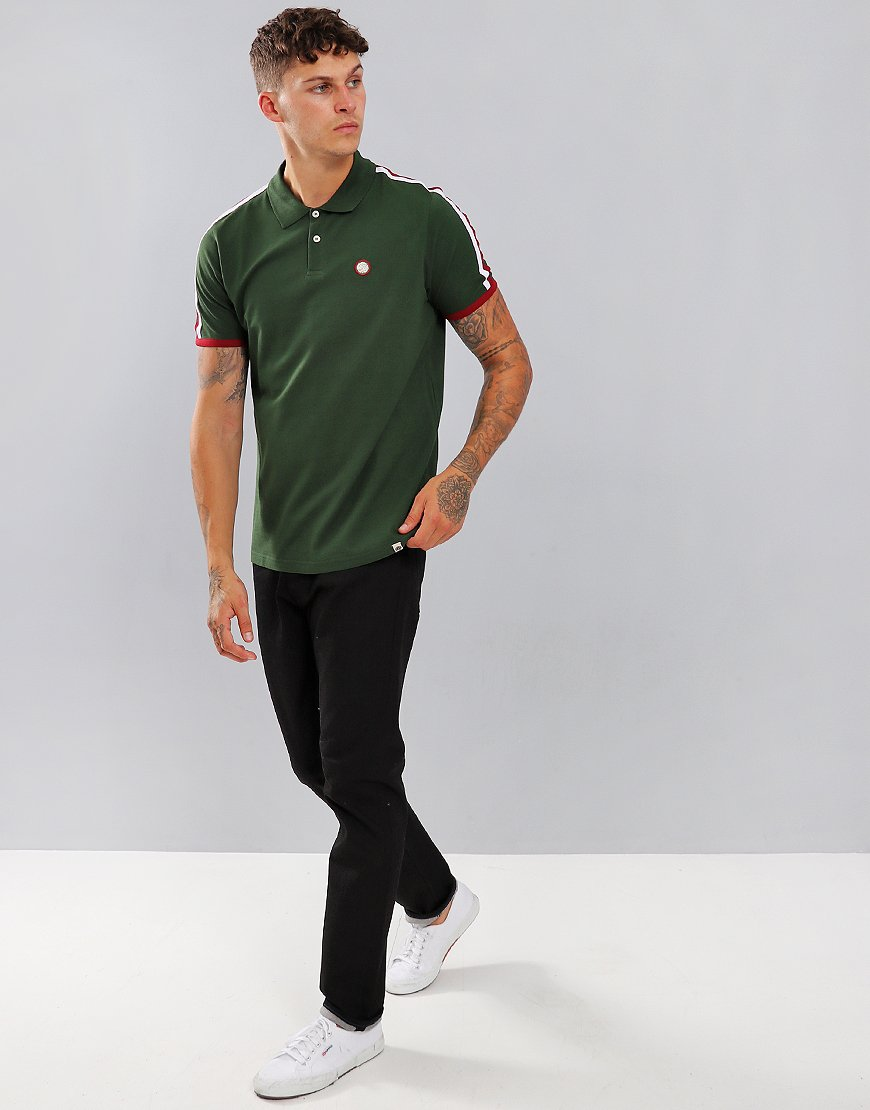 Pretty Green Tilby Moon Polo Shirt Green