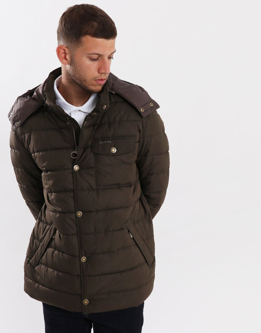 Barbour Cowl Quilted Jacket  Olive