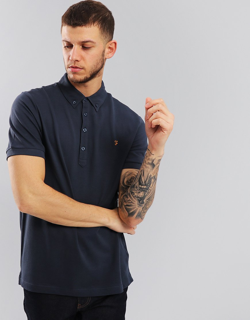 Farah Merriweather Polo Shirt True Navy