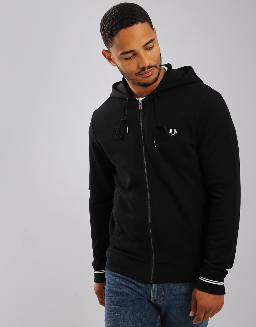 Fred Perry Hooded Loopback Sweat Black
