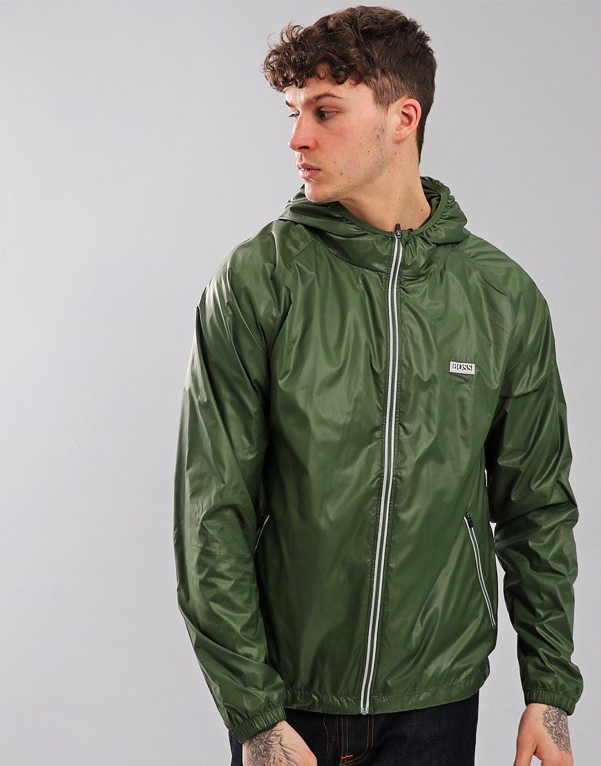 BOSS Regular Fit Technical Beach Jacket Dark Green