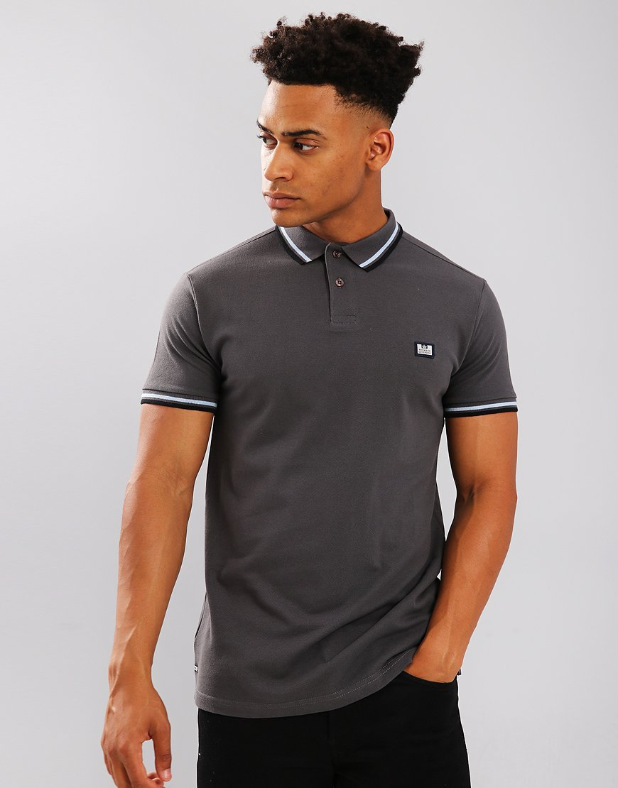 Weekend Offender Fender Polo Shirt Charcoal
