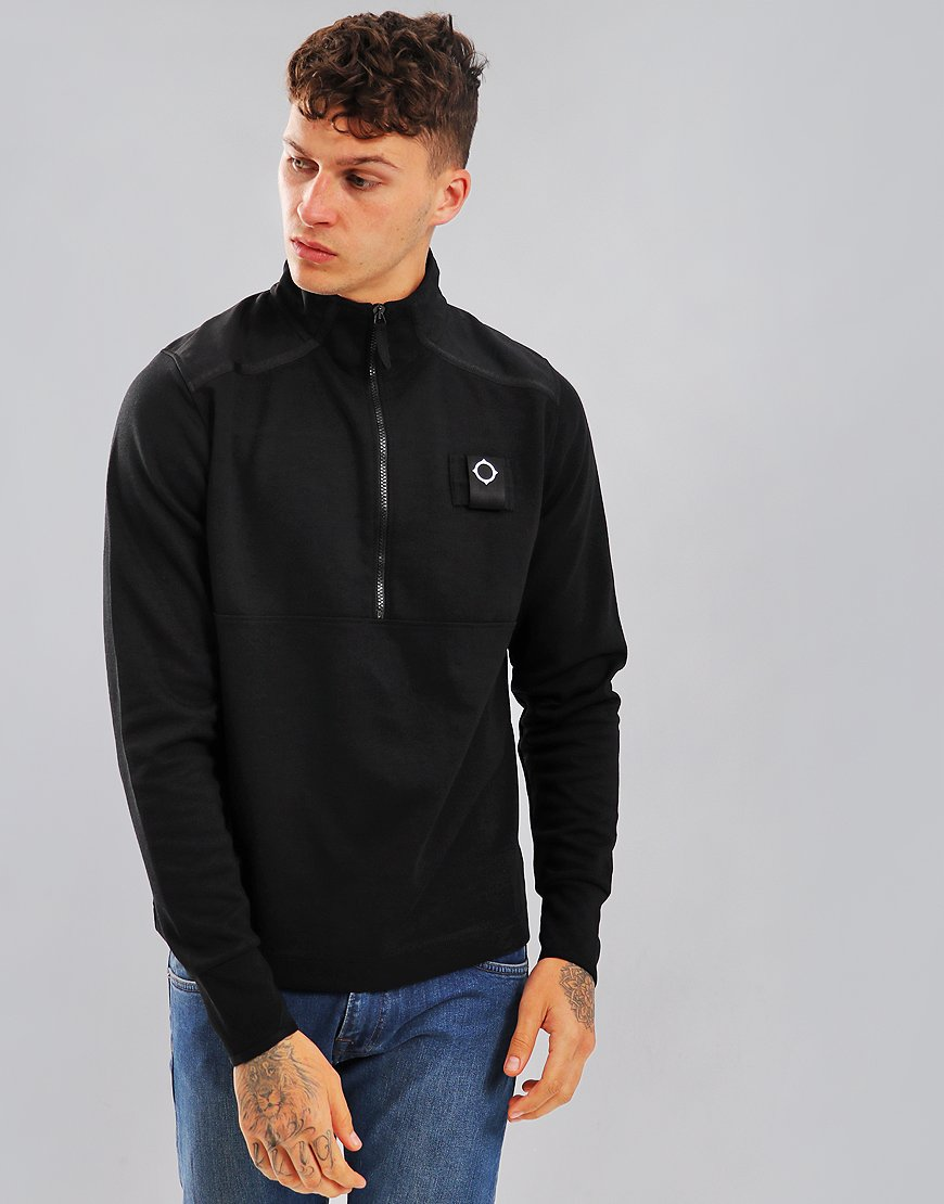 MA.Strum Quarter Zip Sweat Black