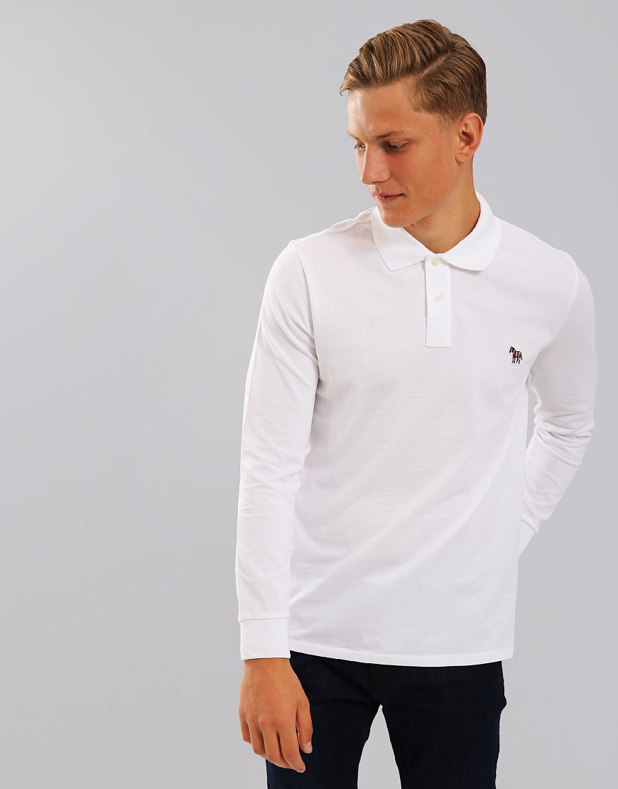 Paul Smith Long Sleeve Polo Shirt White