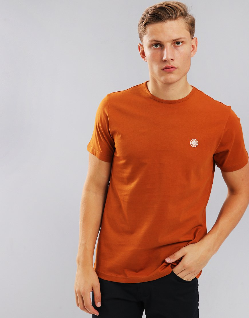 Pretty Green Short Sleeved Mitchell Logo T-Shirt Spice