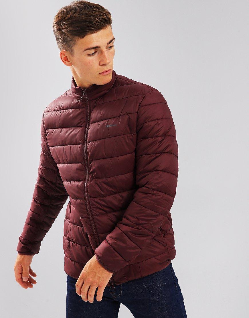 Barbour Penton Puffer Jacket Aubergine