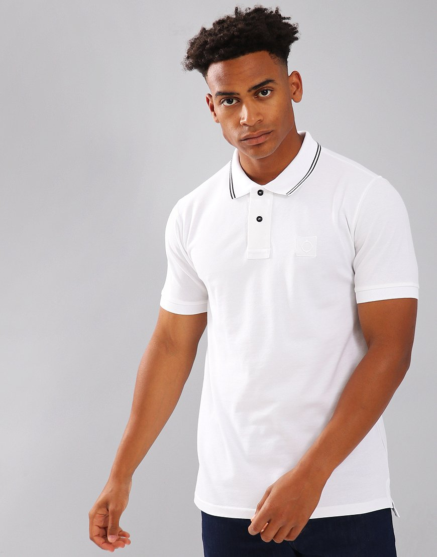 MA.Strum Tipped Pique Polo Shirt White