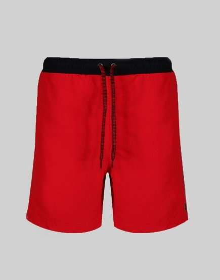 Luke 1977 The Boxer Swim Shorts Red