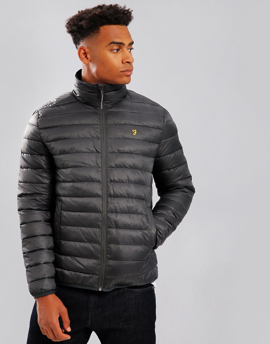 Farah Shawland Quilted Jacket Vinyl - Terraces Menswear d94922bcdcd5