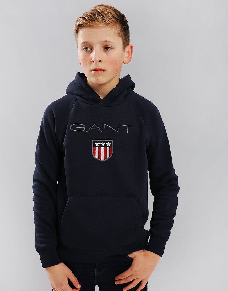 b00d209b Gant Kids Shield Hoodie Evening Blue