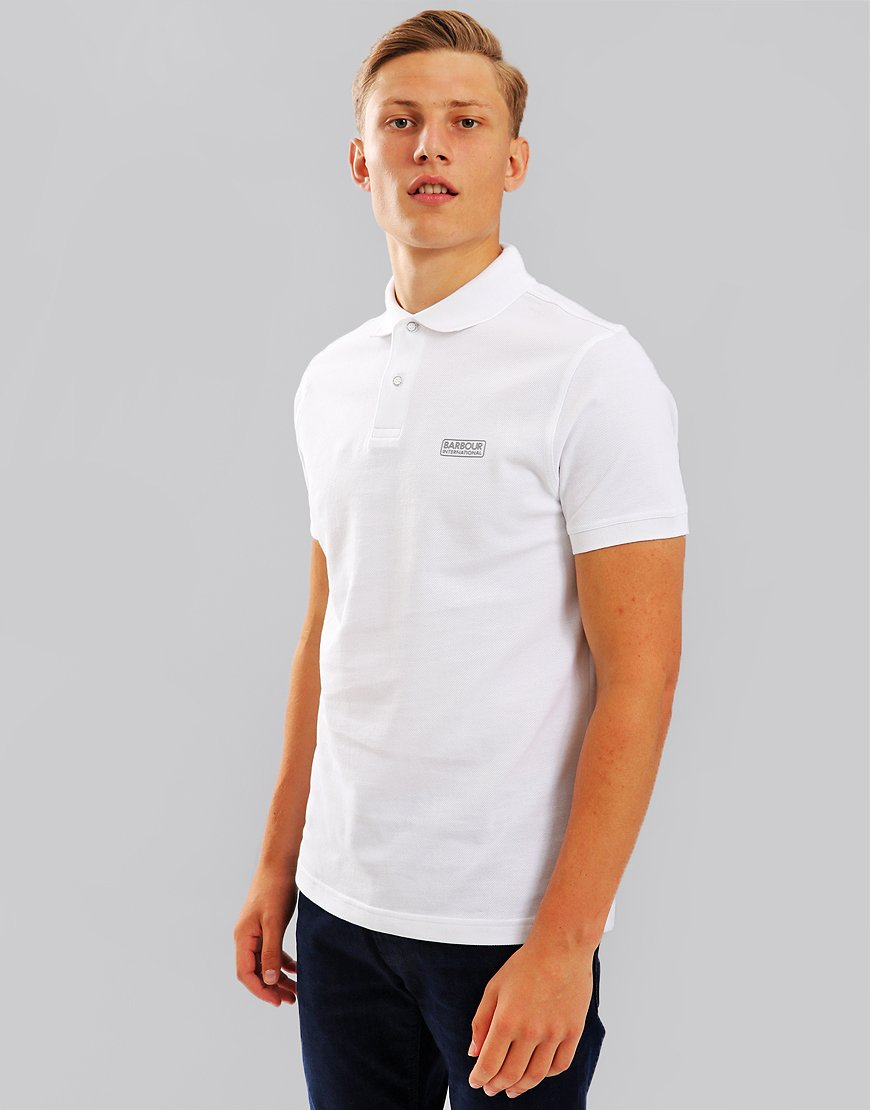 Barbour International Essential Polo Shirt White