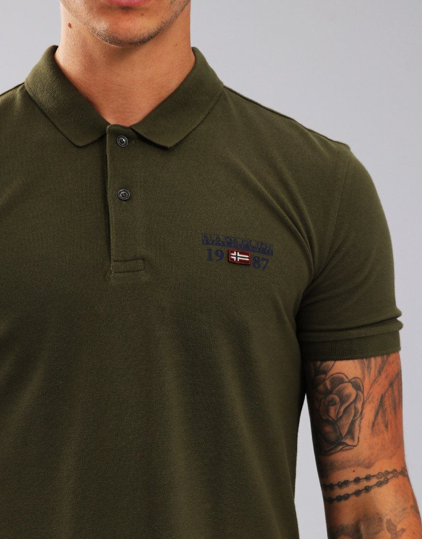 Napapijri Erthow Polo Shirt Green Musk