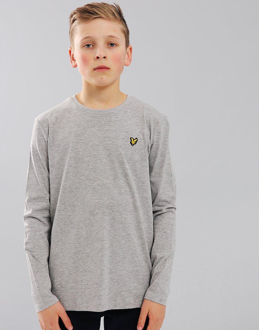 Lyle & Scott Junior Long Sleeved Classic T-Shirt Vintage Grey Heather