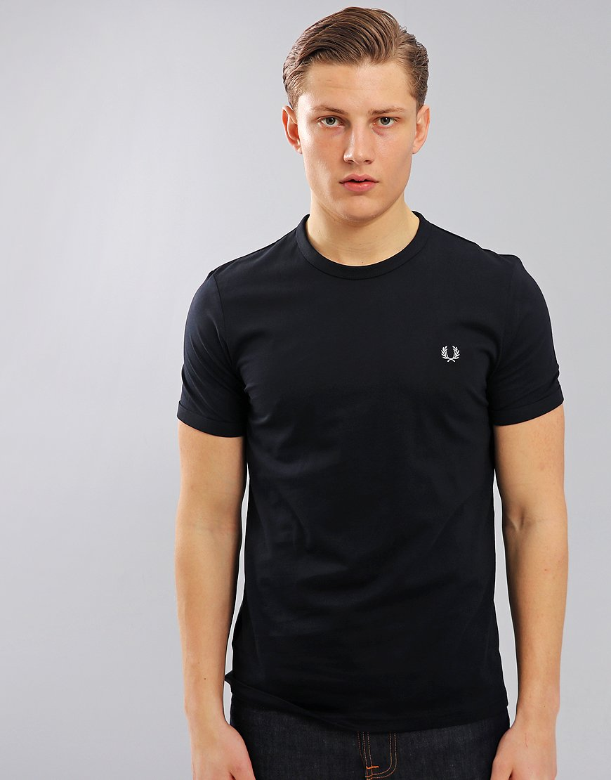 498f6561 Fred Perry Tonal Ringer T-Shirt Navy - Terraces Menswear