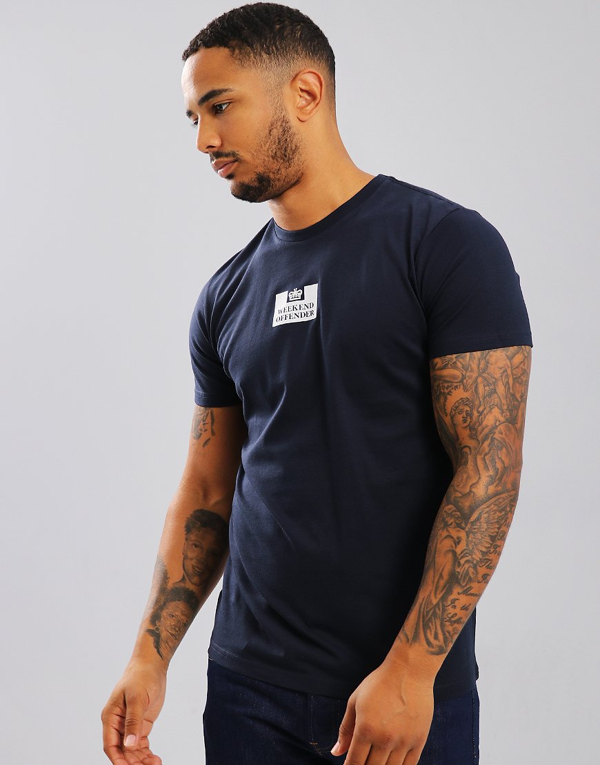 Weekend Offender Frampton T-Shirt Navy