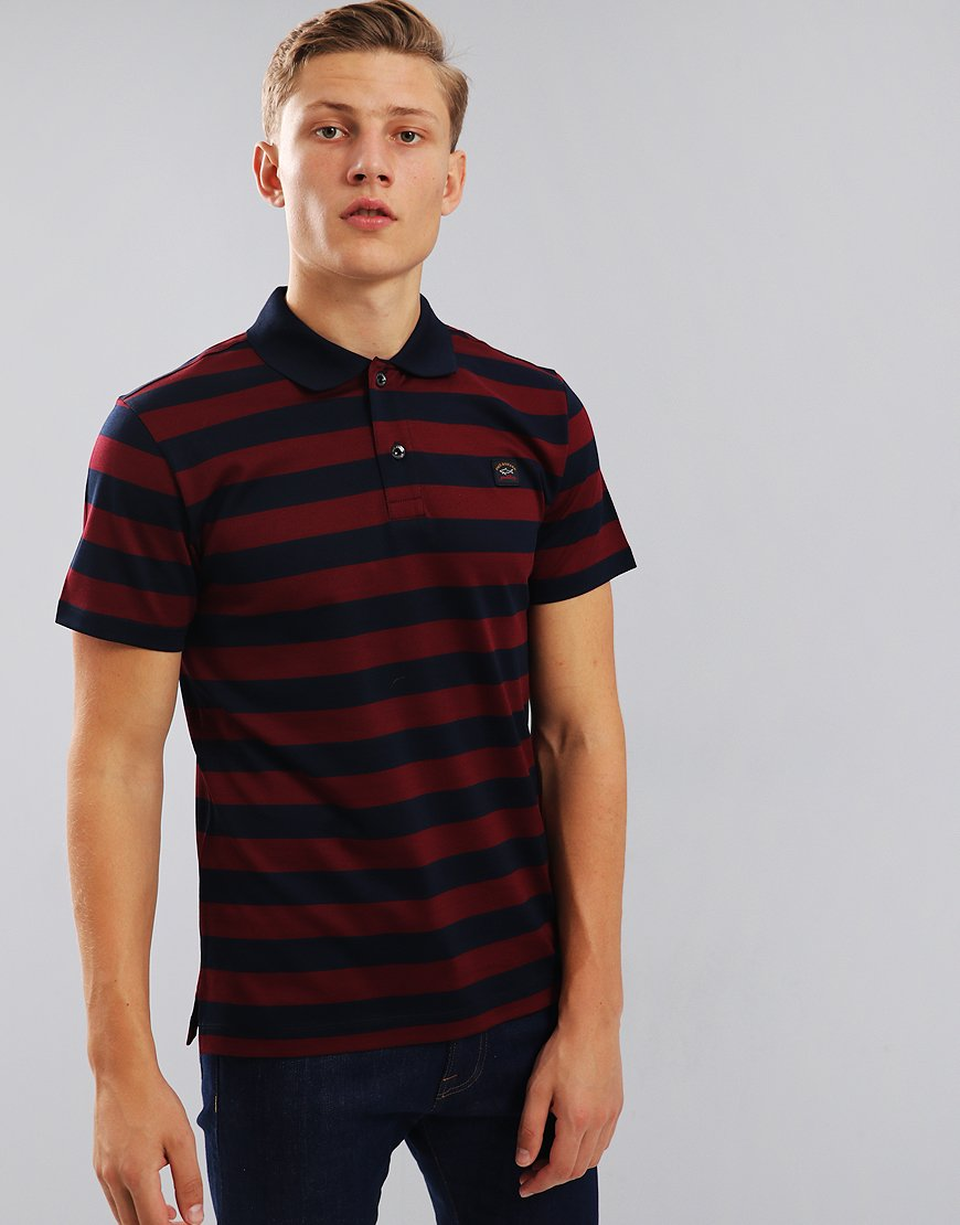 Paul & Shark Polo Shirt Navy/Bordeaux
