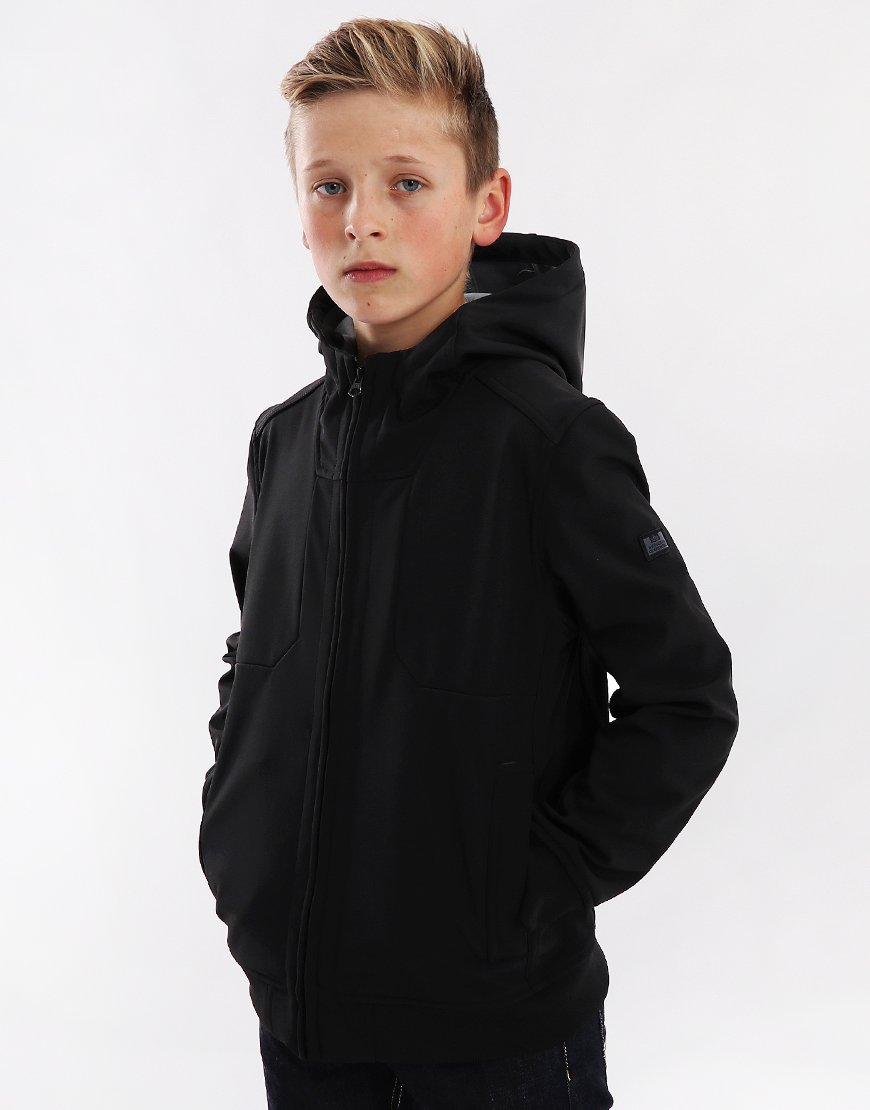 Weekend Offender Kids Irons Soft Shell Jacket Black