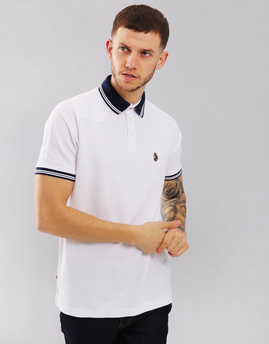 Luke 1977 B Boy Ringer Polo Shirt White