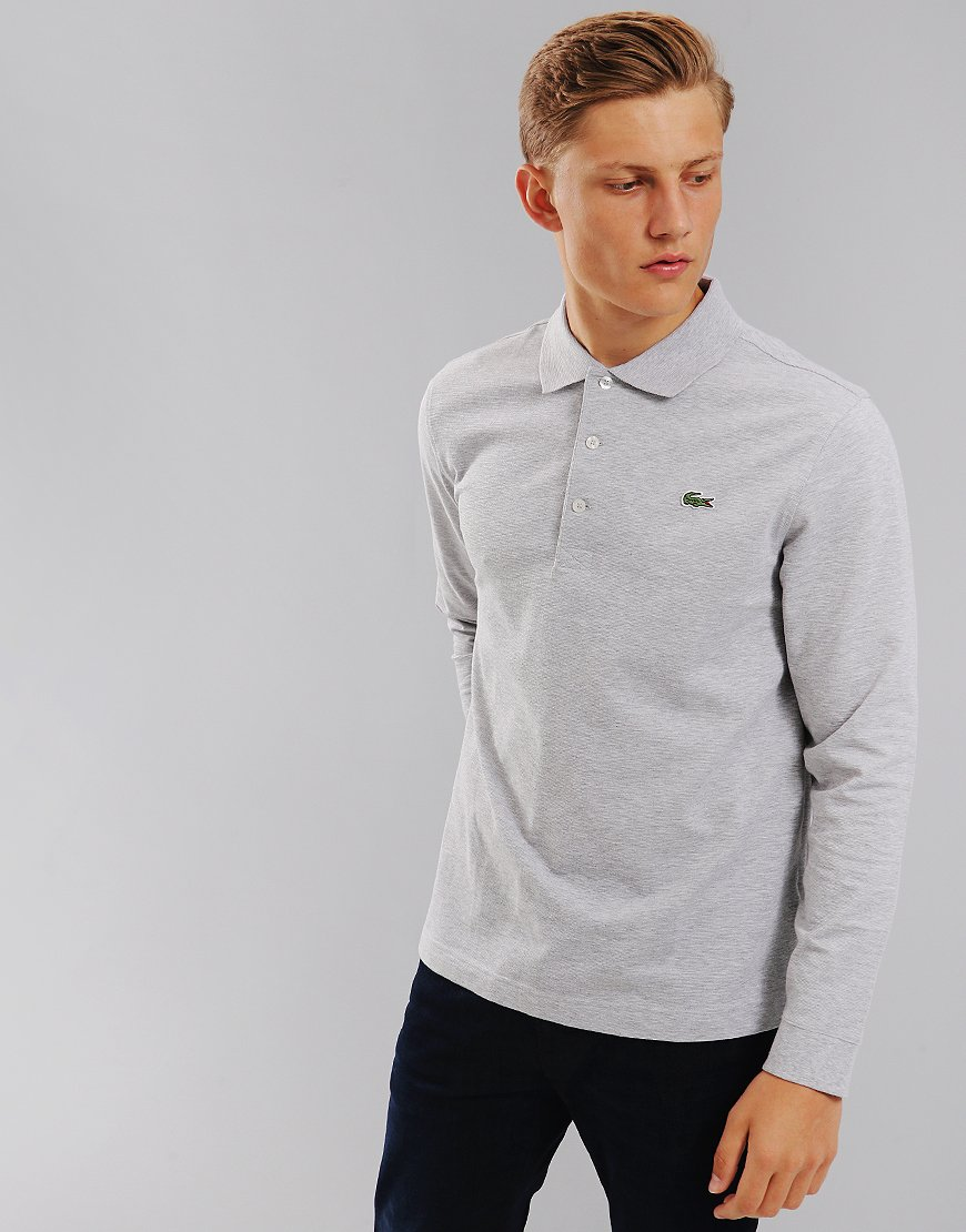 Lacoste Sport Ultra-Light Cotton Tennis Polo Silver Chine
