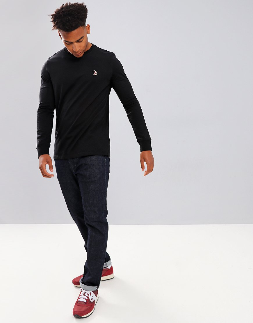 Paul Smith Long Sleeved Regular Fit T-Shirt Black
