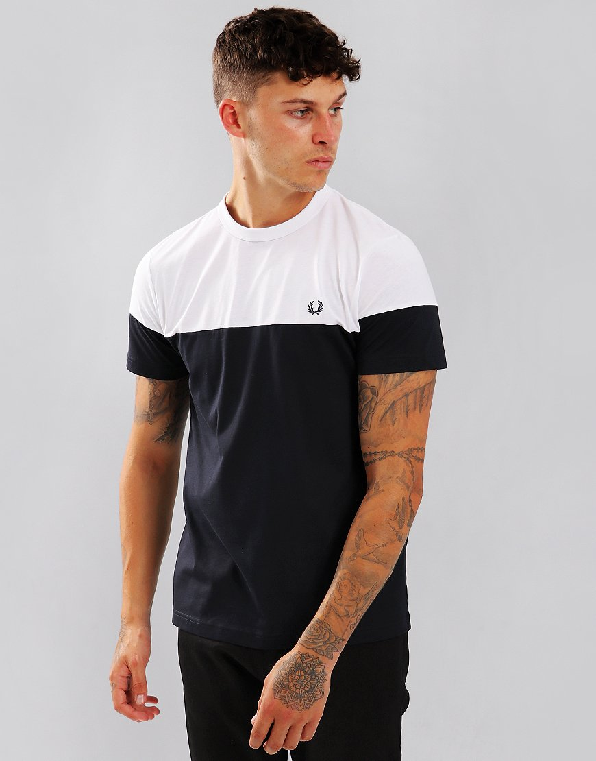 Fred Perry Panelled T-Shirt Navy