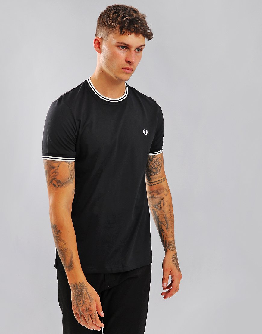 Fred Perry Tipped T-Shirt Black