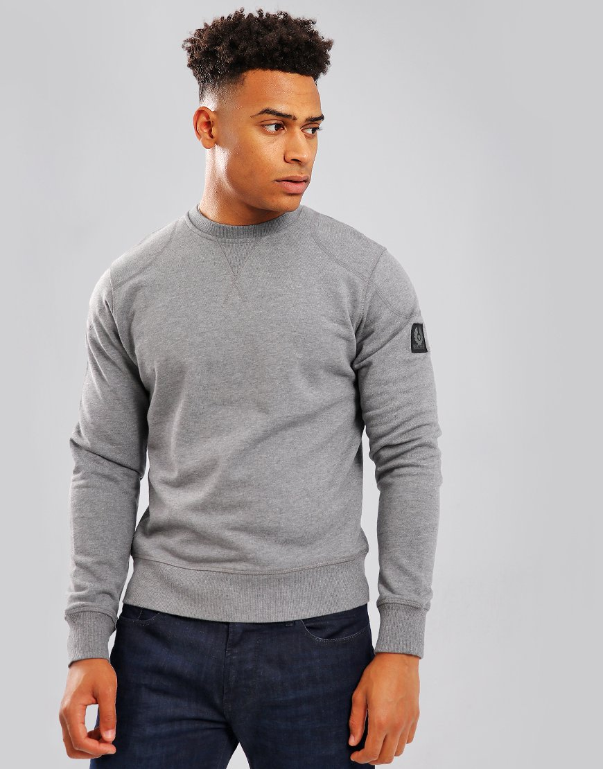 Belstaff Jefferson Crew Sweat Dark Grey