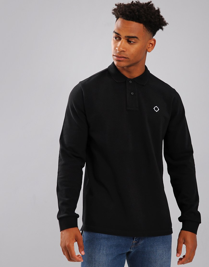 MA.Strum Long Sleeve Polo Shirt Black
