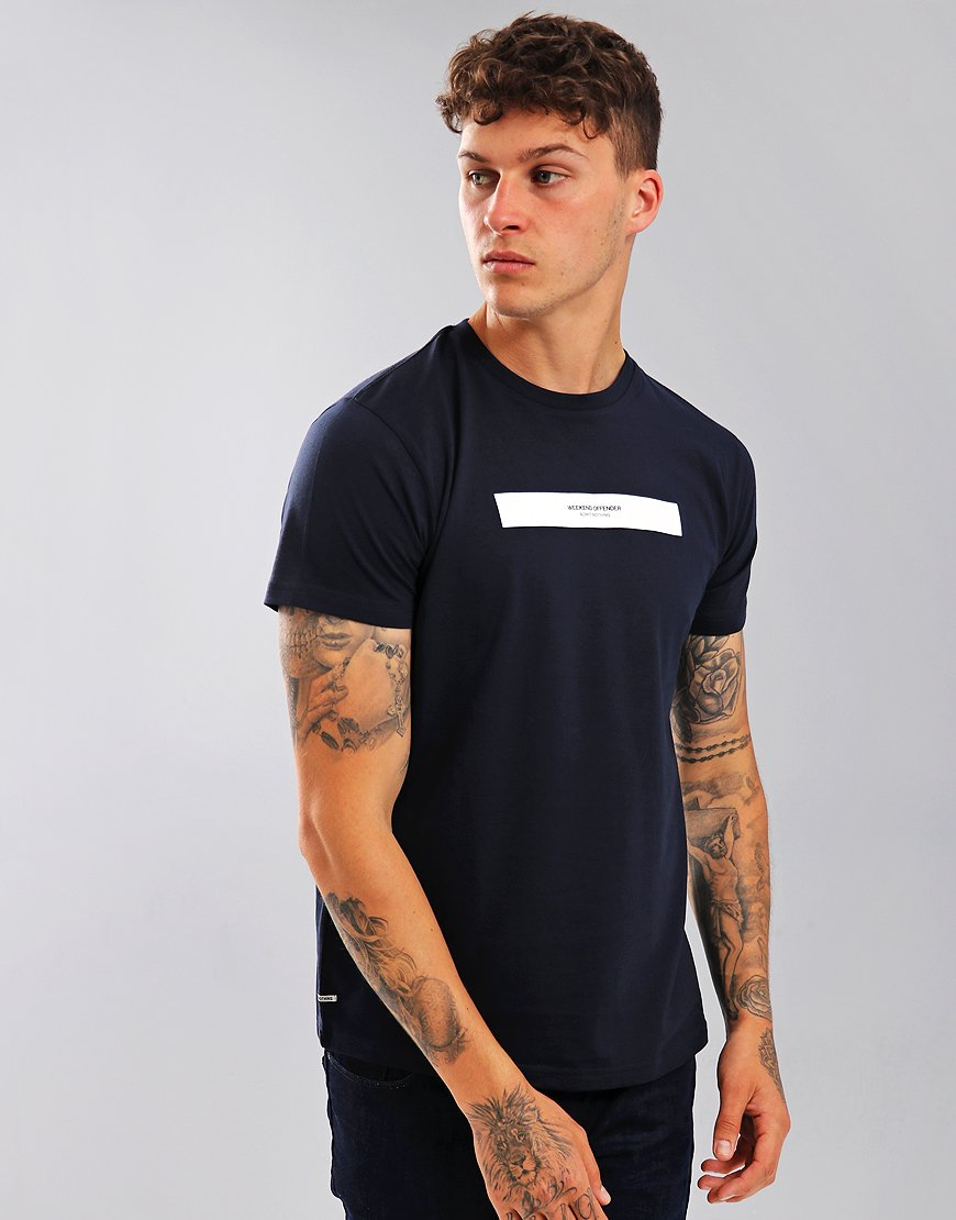 Weekend Offender Box Capsule T-Shirt Navy
