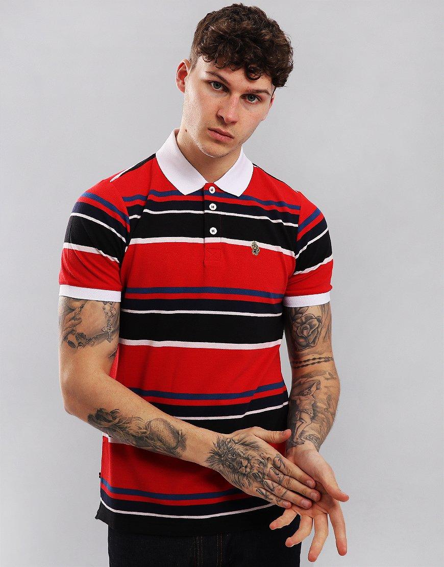 Luke 1977 The Mid Oak Polo Shirt Marina Red