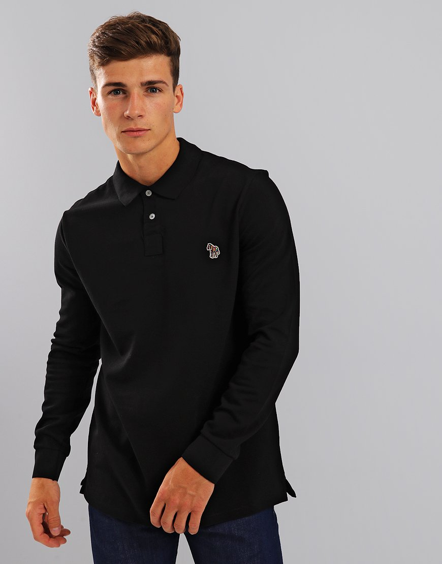 Paul Smith Long Sleeve Polo Shirt Black