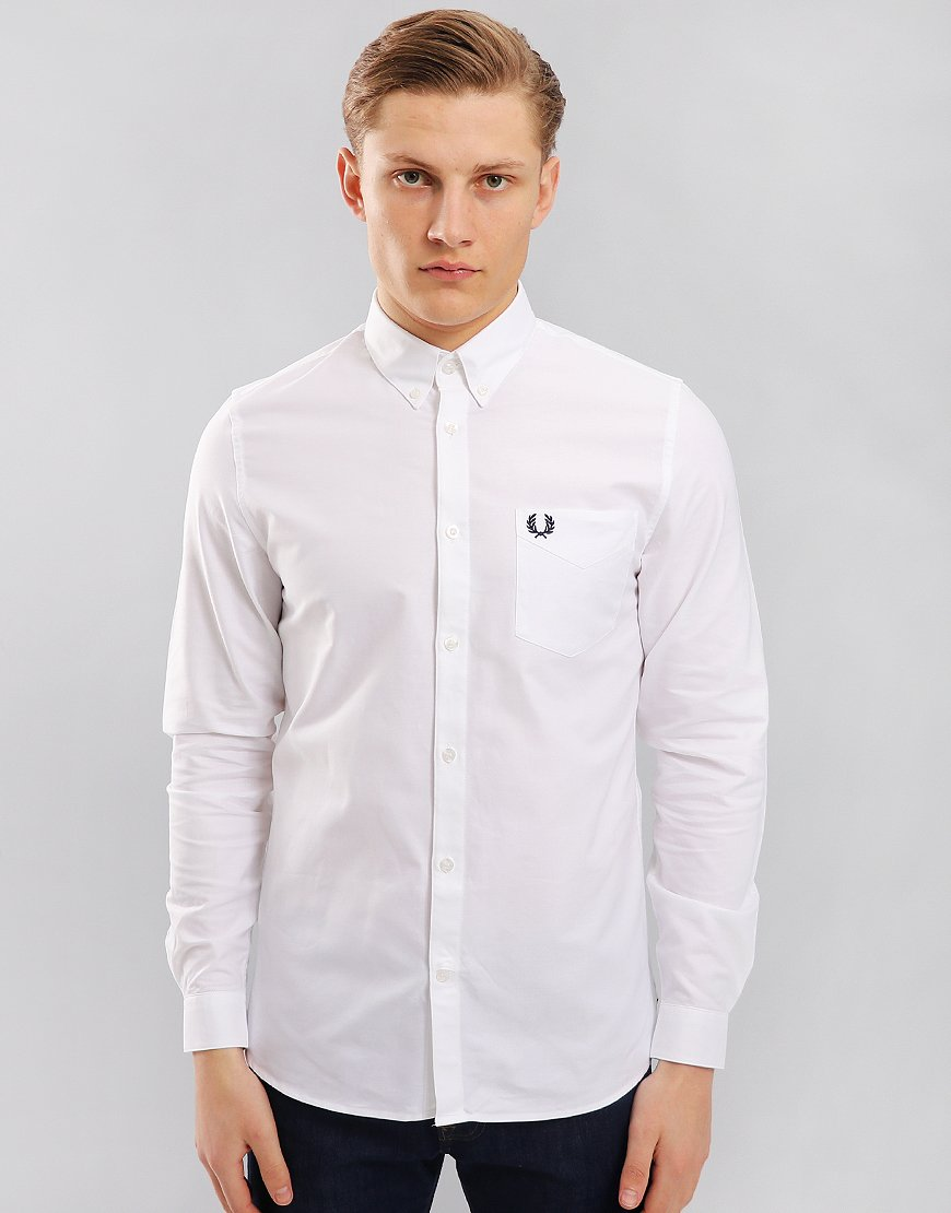 c8461461 Fred Perry Classic Oxford Shirt White