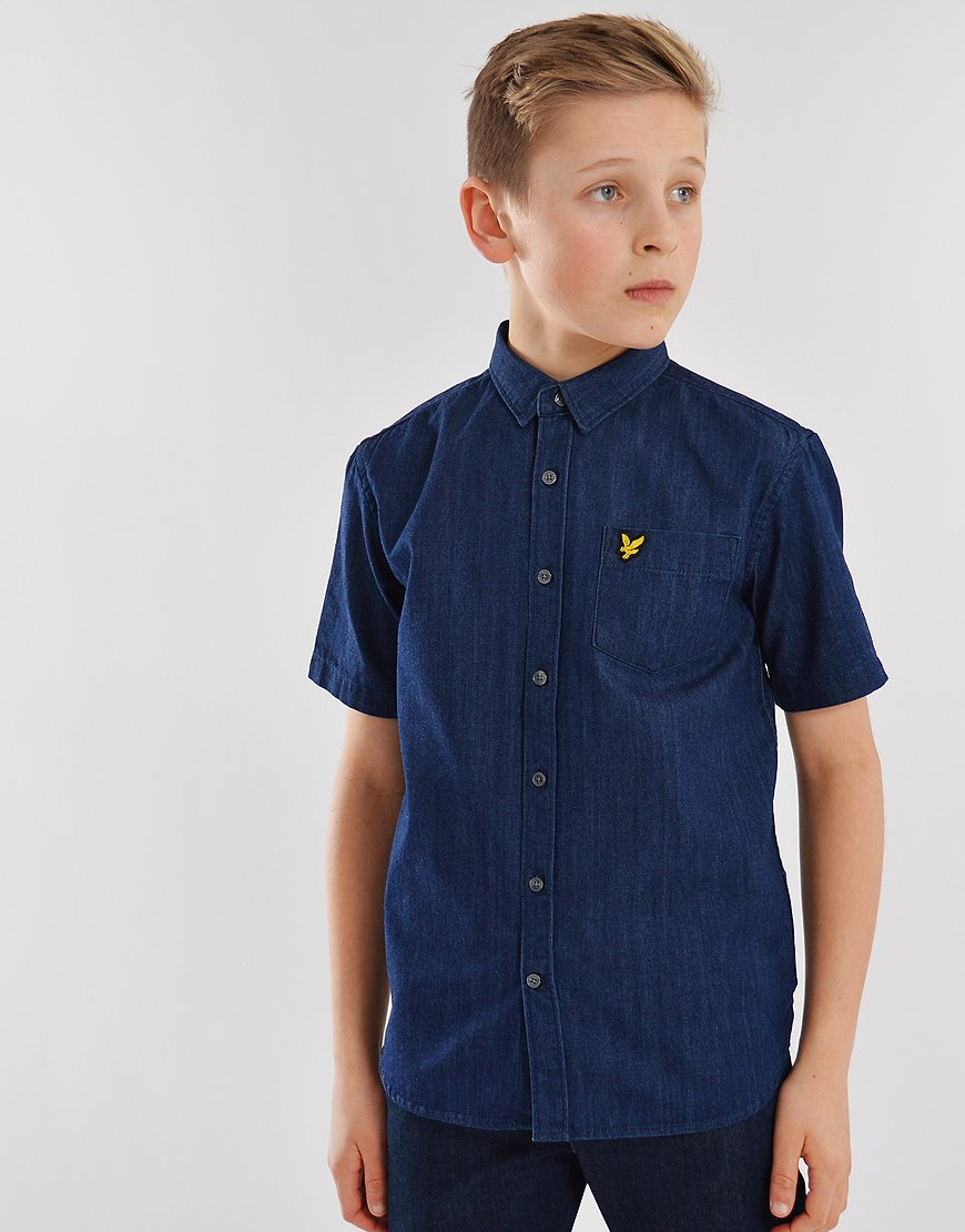 155514f29a7750 Lyle & Scott Junior Denim Shirt Light Indigo - Terraces Menswear