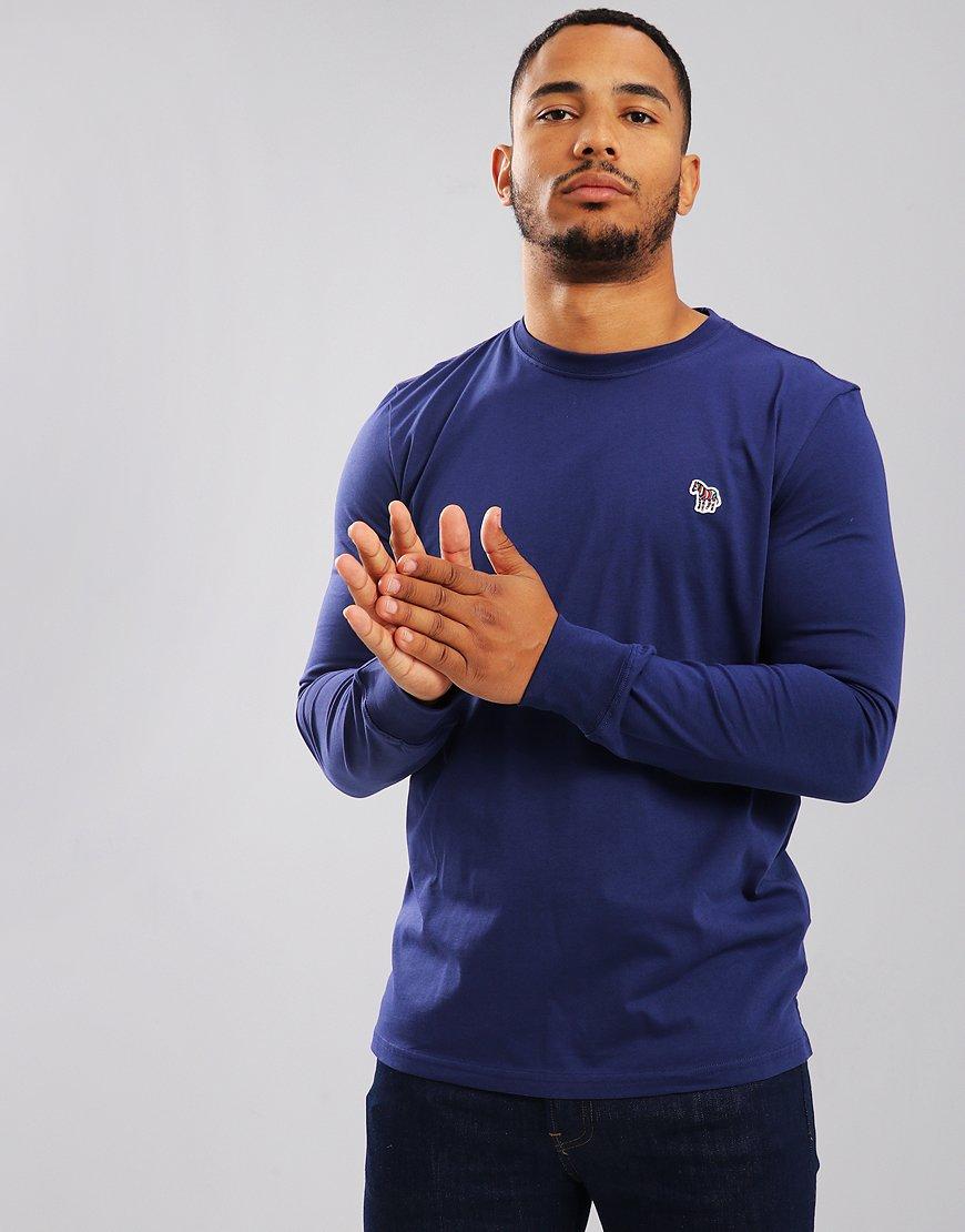 Paul Smith Long Sleeved T-Shirts Regular Fit T-Shirt Cobalt Blue