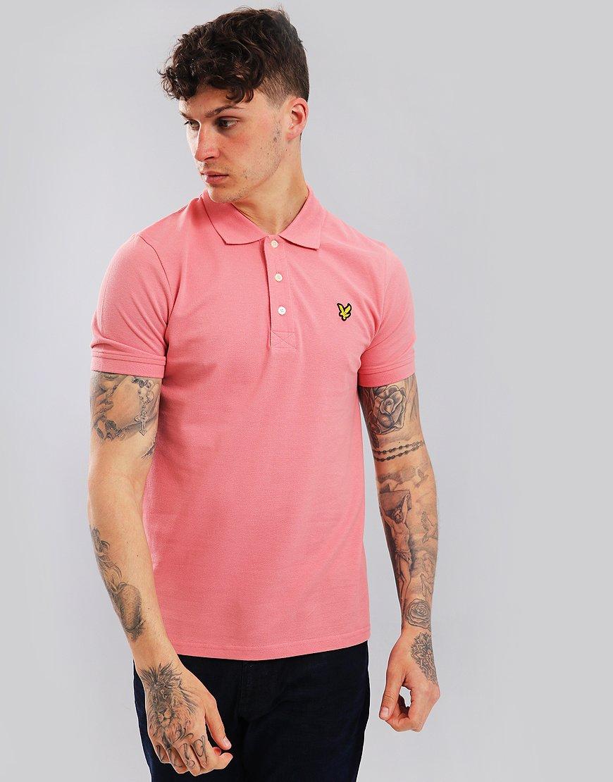 Lyle & Scott Plain Polo Shirt Pink Shade