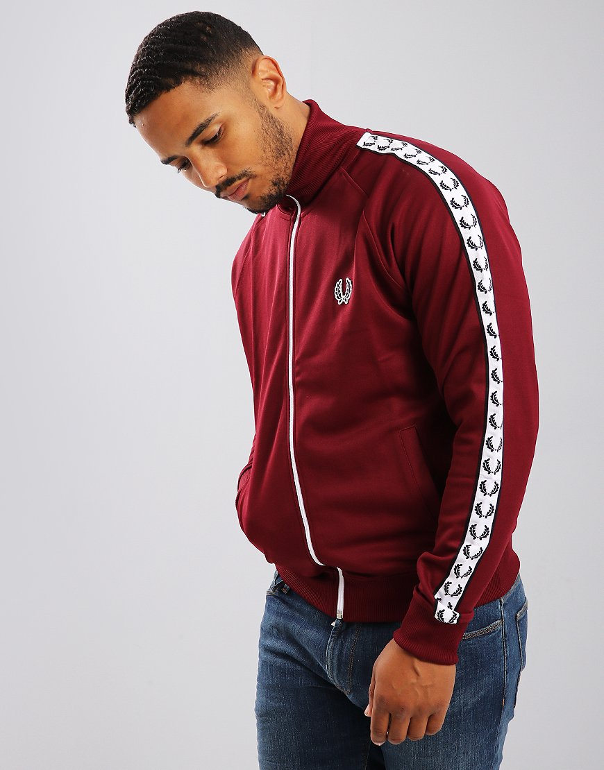 Fred Perry Laurel Wreath Tape Track Jacket Tawny Port