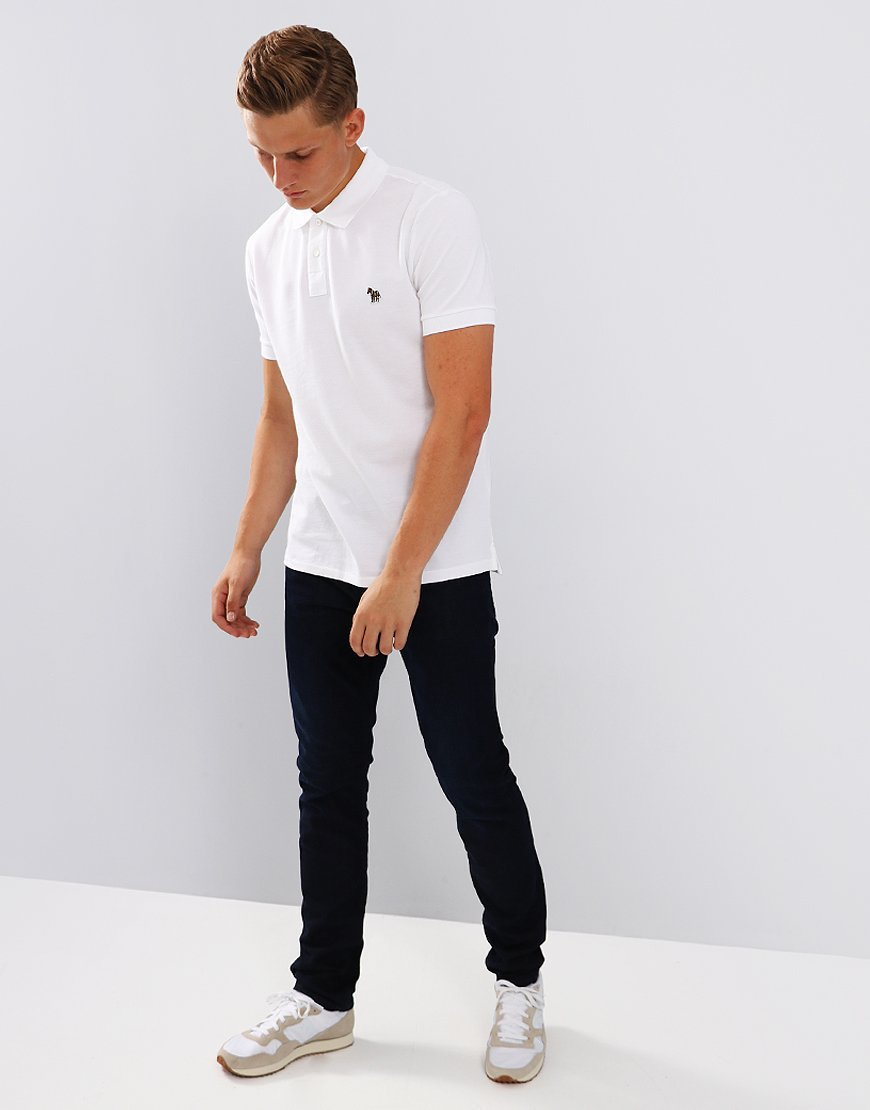 Paul Smith Zebra Logo Polo Shirt   White
