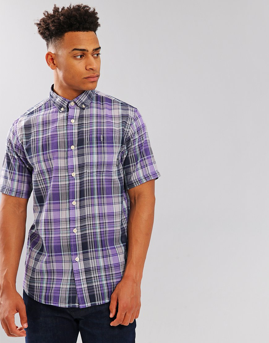 Peaceful Hooligan Robinson Check Shirt Purple